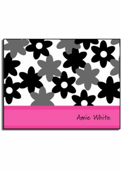 personalized everyday notes – pink camo flowers