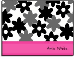 personalized everyday notes � pink camo flowers