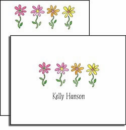 personalized everyday notes - row of daisies