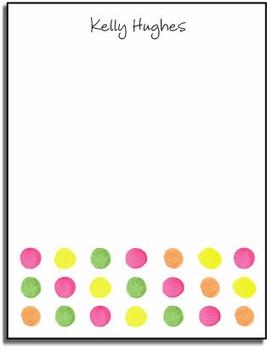 personalized everyday notes – sherbert dots