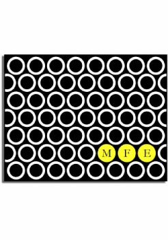 personalized everyday notes – yellow circles
