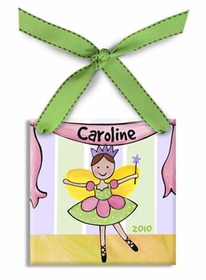 personalized fairy ballerina christmas ornament