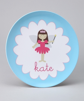personalized fairy plate