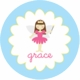 personalized fairy princess  plate (style 1p)