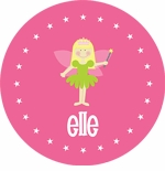 personalized fairy princess plate (style 2p)