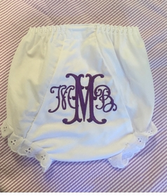 personalized fancy fishtale diaper cover