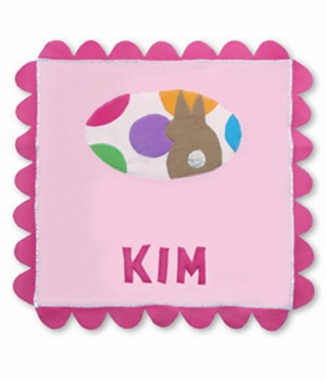 personalized fleece blanket - snugglebunny