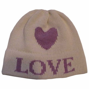 personalized floating heart hat