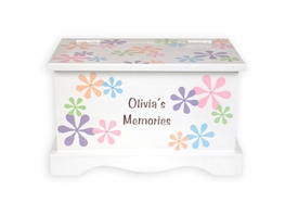 personalized floral keepsake chest