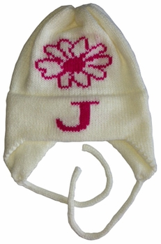 personalized flower hat with earflaps