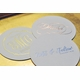 personalized foil stamped coasters m113 by haute papier