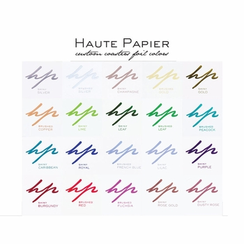 personalized foil stamped coasters m119 by haute papier