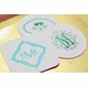 personalized foil stamped coasters m120 by haute papier