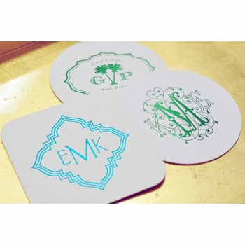 personalized foil stamped coasters m89 by haute papier