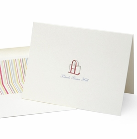 personalized folded note cards