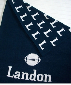personalized football/baseball blanket