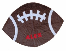 personalized football blanket