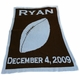 personalized football blanket with name