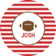 personalized football  plate (style 2p)