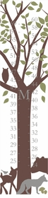 personalized forest critter canvas growth chart