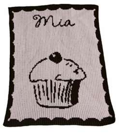 personalized full blanket with cupcake