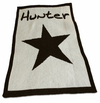 personalized full blanket with star and name