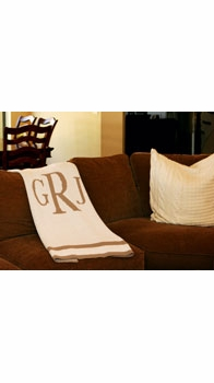 personalized full sized blanket with monogram