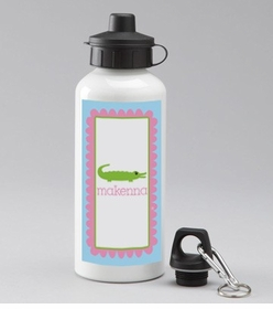 personalized gator girl water bottle