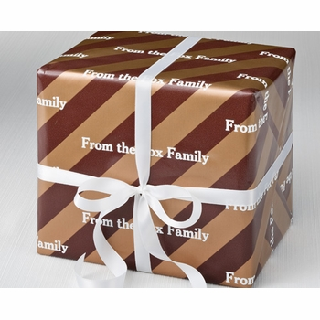 personalized gift wrap - caramel crunch