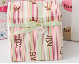 personalized gift wrap - watermelon stripe