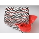 personalized gift wrap - zebra stripe