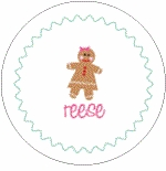 personalized gingerbread holiday plate (style 1p)