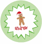 personalized gingerbread holiday plate (style 2p)