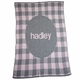 Personalized Gingham & Name Baby Blanket