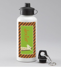 personalized giraffe water bottle
