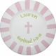 personalized girl baptism plate