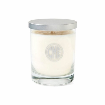 personalized glass soy candle