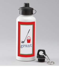 personalized golf water bottle