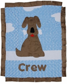 personalized good puppy blanket