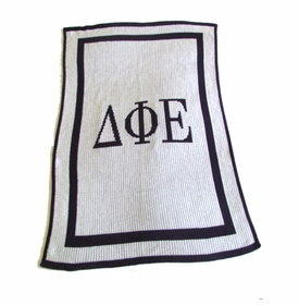 personalized greek blanket