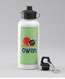 personalized green all star sports bottle