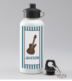 personalized guitar bottle for boys
