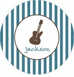 personalized guitar boy plate (style 2p)