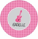 personalized guitar plate (style 1p)