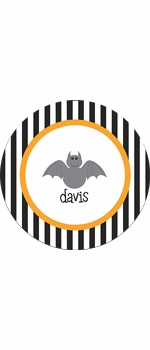 personalized halloween holiday plate (style 4p)