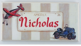personalized handcrafted artwork -license plate