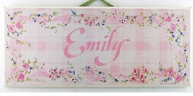 personalized handcrafted artwork - pink check