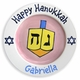personalized hanukkah gift plate (girl)