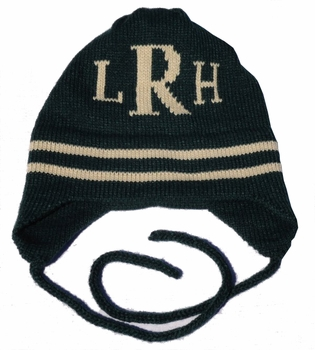 personalized hat with monogram initials with earflaps