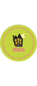 personalized haunted house holiday plate (style 1p)